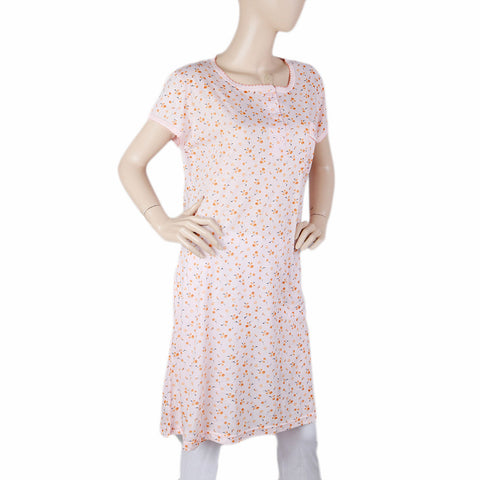 Women's Long Nighty - Pink