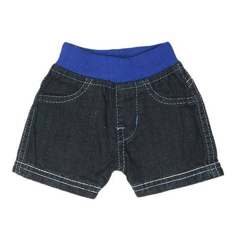 Newborn Boys Shorts - Steel Blue - test-store-for-chase-value