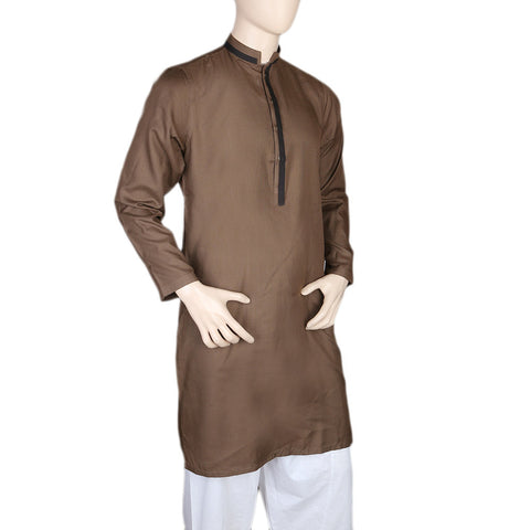 Mashriq Fancy Kurta For Men - Brown