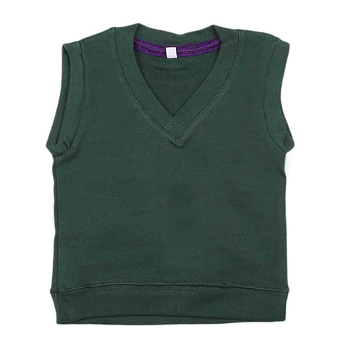 Newborn Boys Sleeveless Sweater - Green