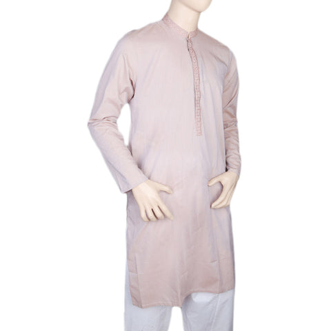 Eminent Embroidered Trim Fit Kurta For Men - T.Pink