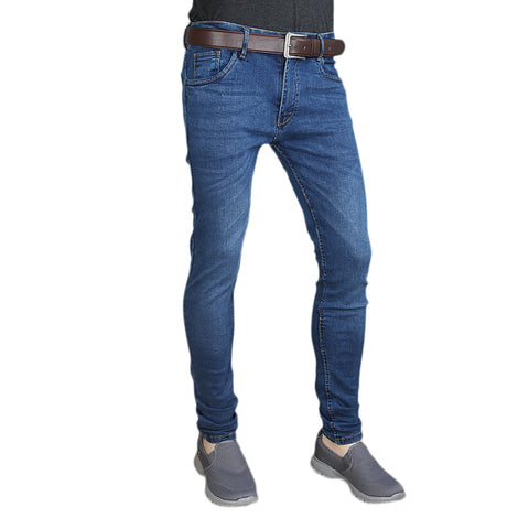 Men's Casual Denim Pant - Blue
