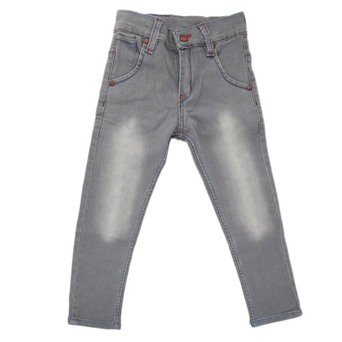 Boys Denim Pant - Grey
