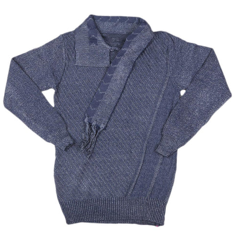 Boys Full Sleeves Sweater - Blue