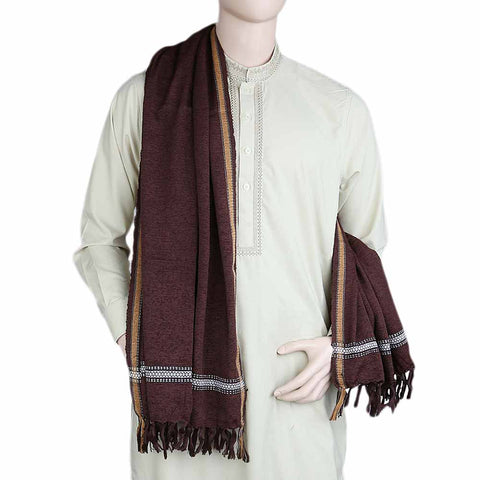 Men's Velvet Shawl - Brown