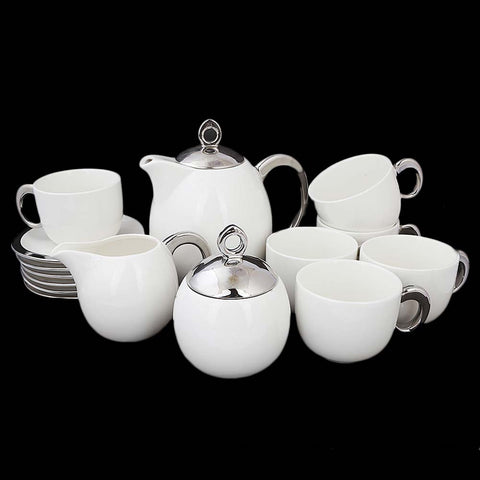 Royal Tea Set 17 Pcs - Silver