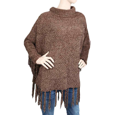 Eminent Poncho For Women - Brown