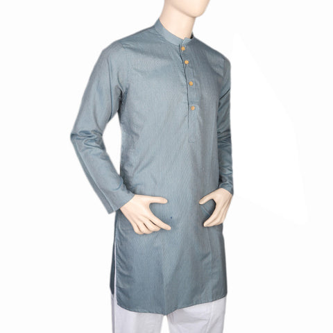 Mashriq Slim Fit Kurta For Men - Steel Blue