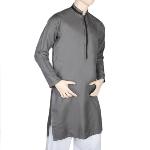 Mashriq Fancy Kurta For Men - Grey