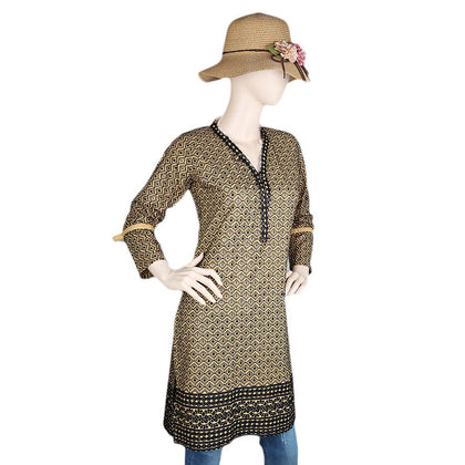 Women's Fancy Chikan Kurti - Brown