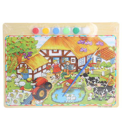 Wooden Puzzle With Painting - Multi - test-store-for-chase-value