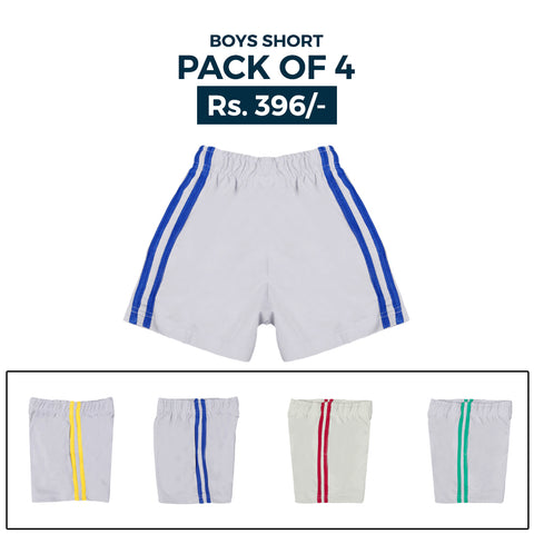 Boys Shorts Pack Of 4 - Multi