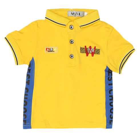 Boys Half Sleeves Polo T-Shirt - Yellow