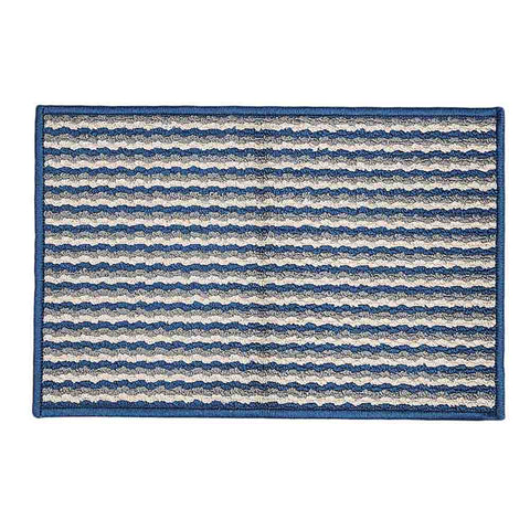 Printed Door Mat 17x27 - Navy Blue