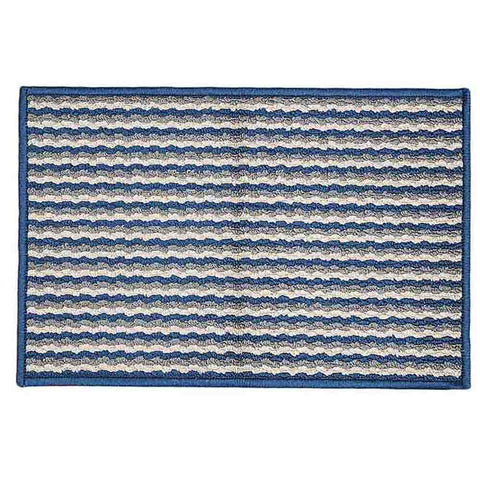 Printed Door Mat 19x29 - Navy Blue