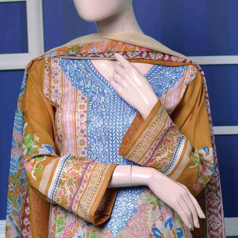 Ayana Embroidered Lawn Suit - 1 A - test-store-for-chase-value