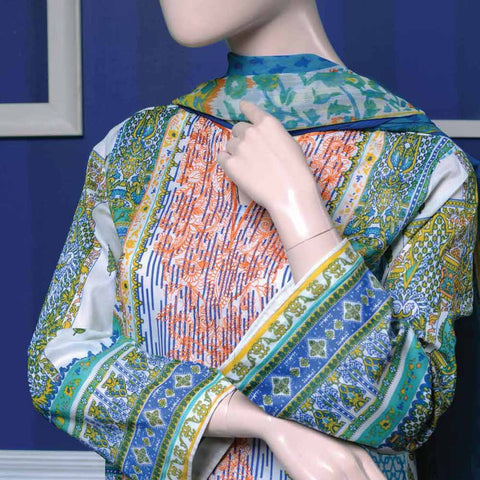 Ayana Embroidered Lawn Suit - 3 A - test-store-for-chase-value