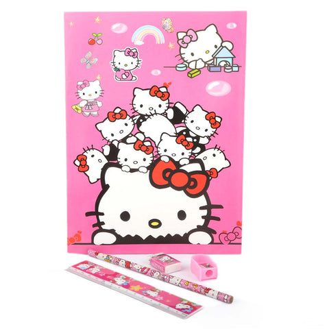 Hello Kitty Stationery Set 5 Pcs - Pink
