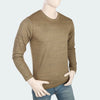 Men's Round Neck Full Sleeves T-Shirt - Rust