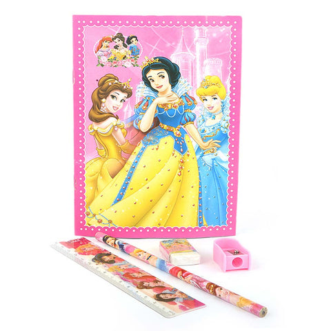 Princess Stationery Set 5 Pcs - Pink