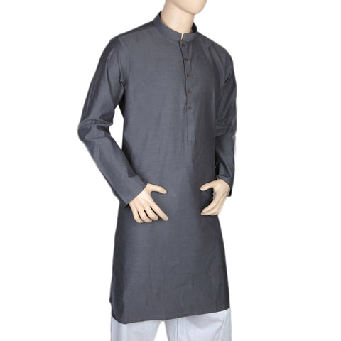 Eminent Trim Fit Kurta For Men - Dark Grey