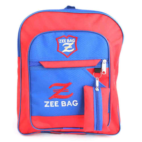 Kids School Bag - Blue Red