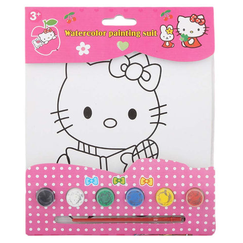 Hello Kitty Watercolor Painting Book For Kids