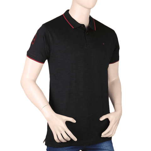 Men's Eminent Half Sleeves Polo T-Shirt - Black
