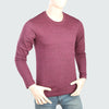 Men's Round Neck Full Sleeves T-Shirt - Purple