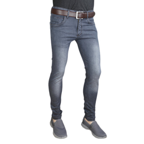 Men's Casual Denim Pant - Dark Grey