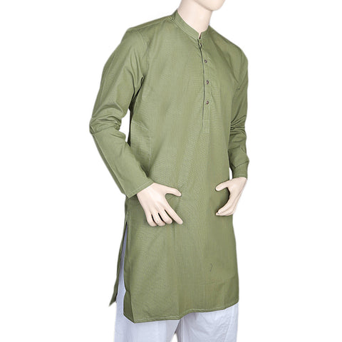 Eminent Trim Fit Kurta For Men - Green