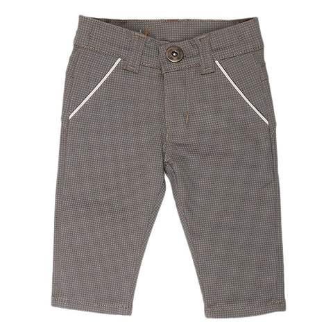 Newborn s Boys Cotton Pant - Brown