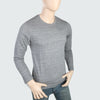 Men's Round Neck Full Sleeves T-Shirt - Grey