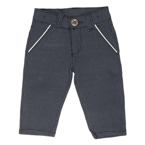 Newborn s Boys Cotton Pant - Navy Blue - Black