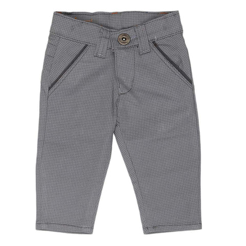 Newborn s Boys Cotton Pant - Grey