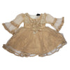 Girls Fancy Frock Fawn