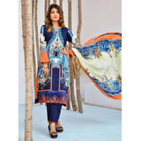 Cool Embroidered Khaddar 3 Piece Un-Stitched Suit - BKR409 B