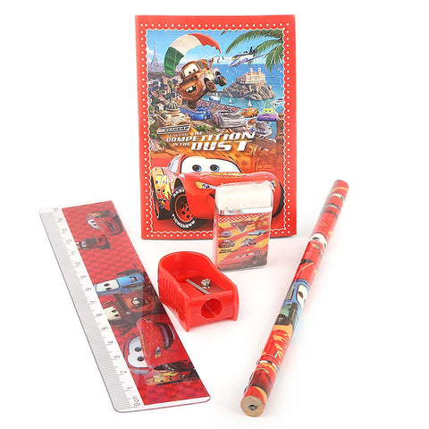 Cars 2 Stationery Set 5 Pcs - Red