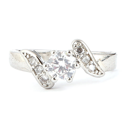 Women's Fancy Stone Ring - Silver - test-store-for-chase-value