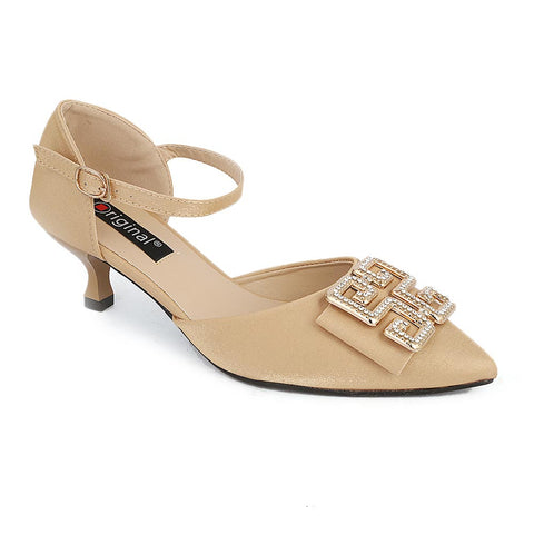 Women's Fancy Heel (C-25) - Golden