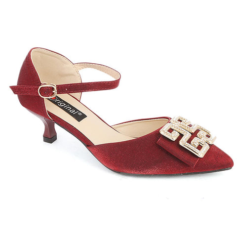 Women's Fancy Heel (C-25) - Maroon