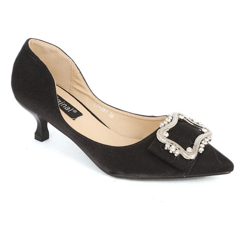 Women's Fancy Heel (CJ-291) - Black