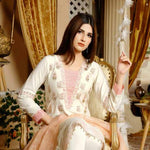 Destiny Embroidered Linen 3 Piece Semi-Stitched Suit - 8511
