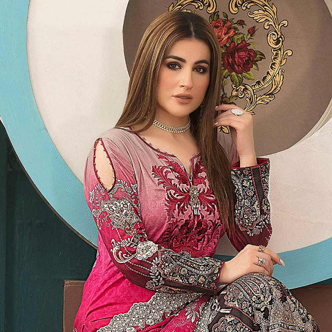 Belle Embroidered Lawn 3 Piece Un-Stitched Suit - 8794