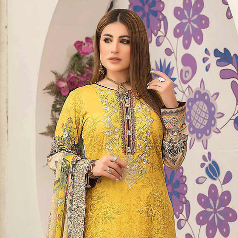 Belle Embroidered Lawn 3 Piece Un-Stitched Suit - 8797