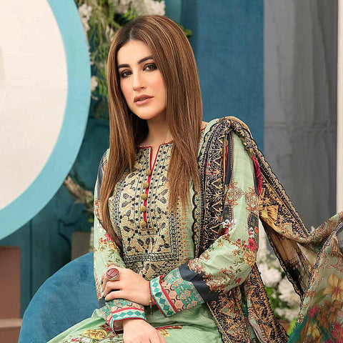 Belle Embroidered Lawn 3 Piece Un-Stitched Suit - 8799