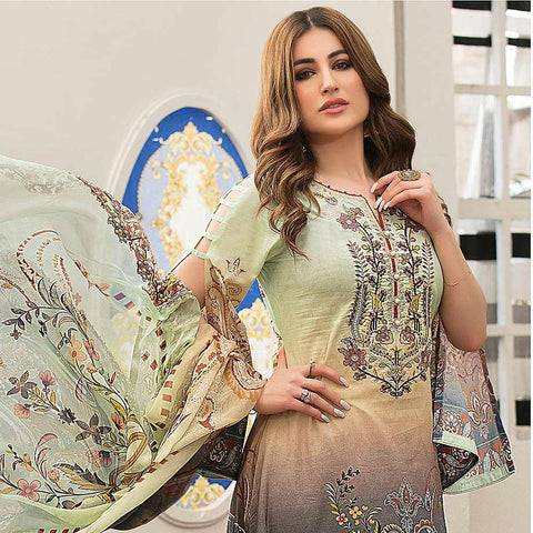 Belle Embroidered Lawn 3 Piece Un-Stitched Suit - 8800