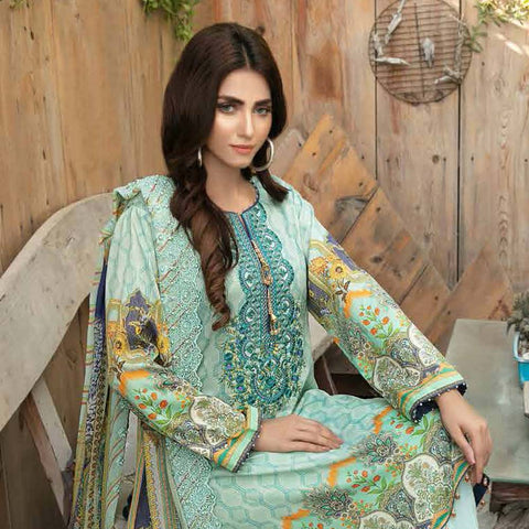 Tawakkal Embroidered Masuri 3 Piece Un-Stitched Suit - 8959