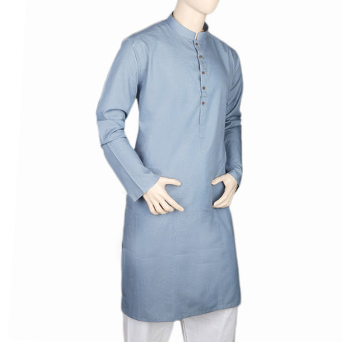 Eminent Trim Fit Kurta For Men - Blue