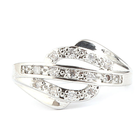 Women's Fancy Studded Ring - Silver - test-store-for-chase-value